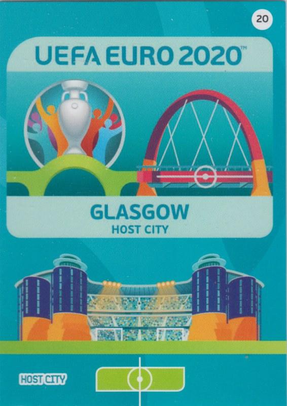 Adrenalyn Euro 2020 - 020 - Glasgow (Scotland) - Host City