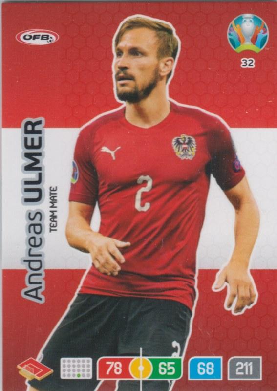 Adrenalyn Euro 2020 - 032 - Andreas Ulmer (Austria) - Team Mate