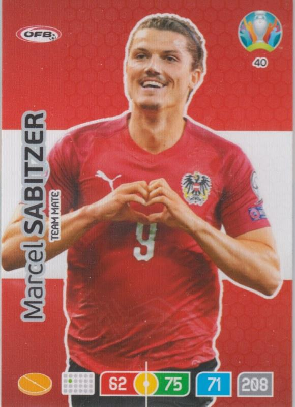 Adrenalyn Euro 2020 - 040 - Marcel Sabitzer (Austria) - Team Mate