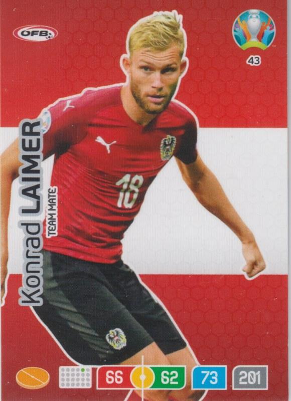Adrenalyn Euro 2020 - 043 - Konrad Laimer (Austria) - Team Mate