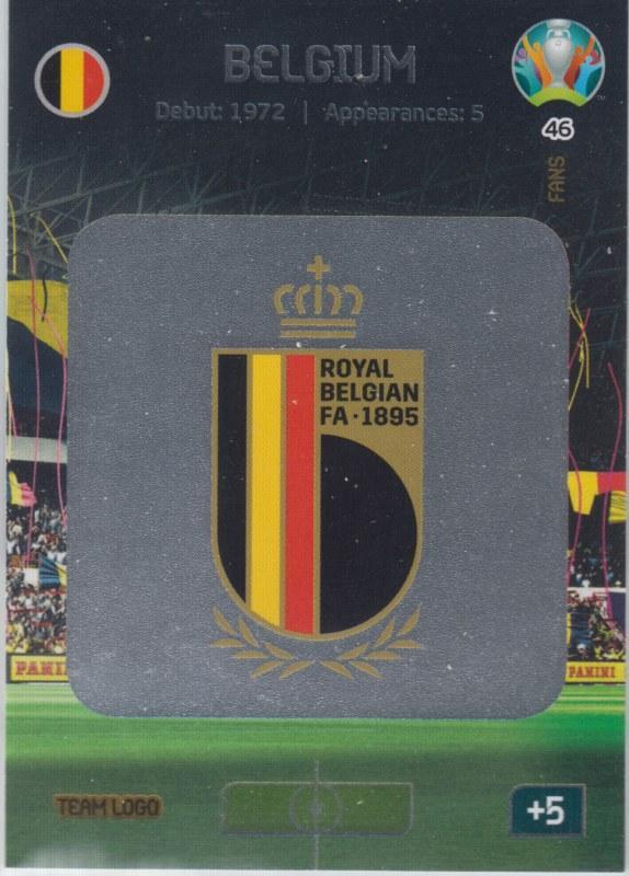Adrenalyn Euro 2020 - 046 - Team Logo (Belgium) - Team Logo