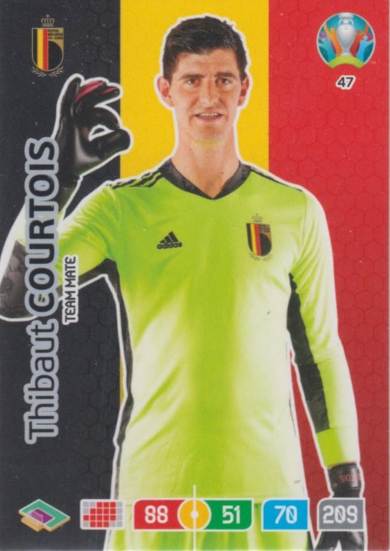 Adrenalyn Euro 2020 - 047 - Thibaut Courtois (Belgium) - Team Mate