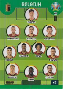 Adrenalyn Euro 2020 - 063 - Line-Up (Belgium) - Line-Up