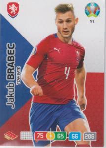 Adrenalyn Euro 2020 - 091 - Jakub Brabec (Czech Republic) - Team Mate