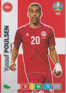Adrenalyn Euro 2020 - 110 - Yussuf Poulsen (Denmark) - Team Mate
