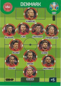 Adrenalyn Euro 2020 - 117 - Line-Up (Denmark) - Line-Up