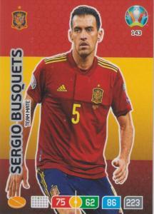 Adrenalyn Euro 2020 - 143 - Sergio Busquets (Spain) - Team Mate