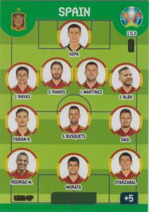 Adrenalyn Euro 2020 - 153 - Line-Up (Spain) - Line-Up