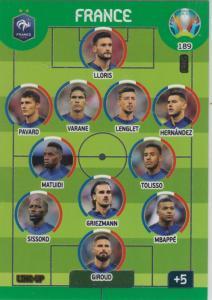 Adrenalyn Euro 2020 - 189 - Line-Up (France) - Line-Up