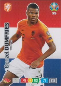 Adrenalyn Euro 2020 - 230 - Denzel Dumfries (Netherlands) - Team Mate