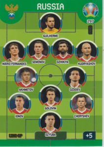Adrenalyn Euro 2020 - 297 - Line-Up (Russia) - Line-Up