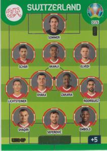 Adrenalyn Euro 2020 - 315 - Line-Up (Switzerland) - Line-Up