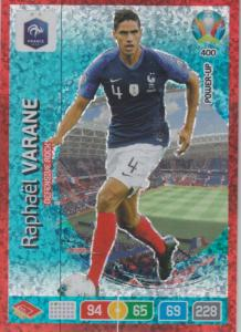 Adrenalyn Euro 2020 - 400 - Raphaël Varane / Raphael Varane (France) - Defensive Rock