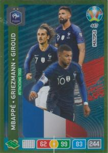 Adrenalyn Euro 2020 - 447 - Kylian Mbappé, Antoine Griezmann, Olivier Giroud (France) - Attacking Trio