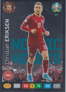 Adrenalyn Euro 2020 - 471 - Christian Eriksen (Denmark) - Nordic Heroes