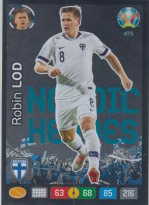Adrenalyn Euro 2020 - 475 - Robin Lod (Finland) - Nordic Heroes