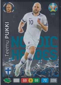 Adrenalyn Euro 2020 - 476 - Teemu Pukki (Finland) - Nordic Heroes