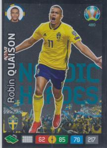 Adrenalyn Euro 2020 - 480 - Robin Quaison (Sweden) - Nordic Heroes
