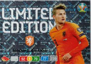 Adrenalyn Euro 2020 - Matthijs de Ligt (Netherlands) - Limited Edition