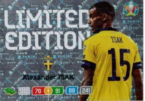 Adrenalyn Euro 2020 - Alexander Isak (Sweden) - Limited Edition