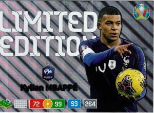 Adrenalyn Euro 2020 – Kylian Mbappe - Limited Edition XXL (Stort Kort / Large Card)