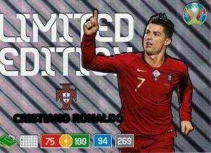 Adrenalyn Euro 2020 – Cristiano Rolnaldo - Limited Edition XXL (Stort Kort / Large Card)