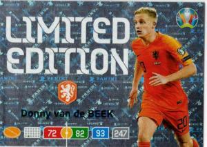 Adrenalyn Euro 2020 - Donny van de Beek (Netherlands) - Limited Edition