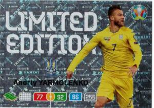 Adrenalyn Euro 2020 - Andriy Yarmolenko (Ukraine) - Limited Edition