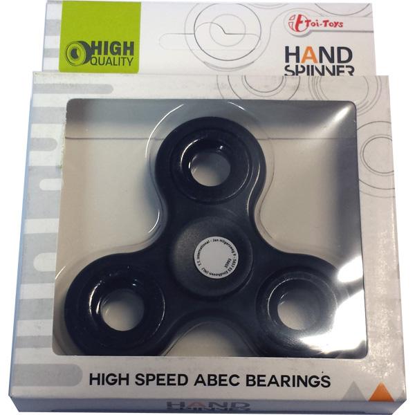 Fidget Spinner / Hand Spinner, High Speed ABEC - Svart - Toi Toys (CE-märkt)