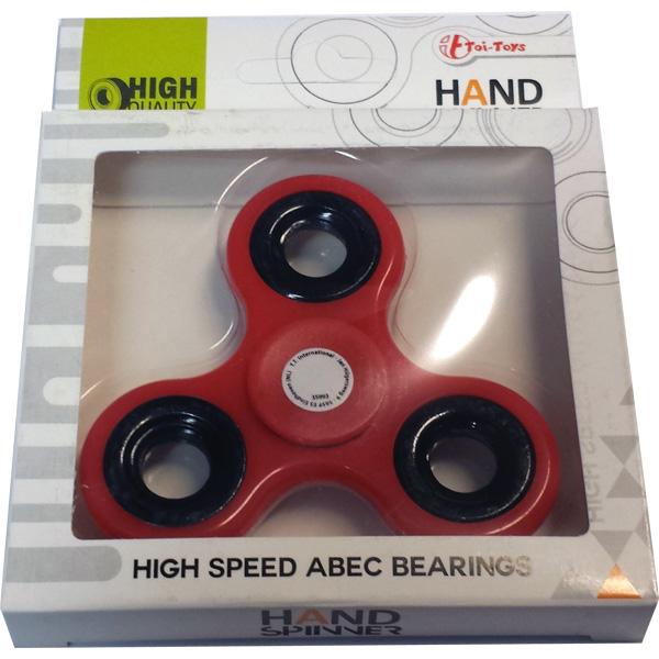 Fidget Spinner / Hand Spinner, High Speed ABEC - Röd - Toi Toys (CE-märkt)