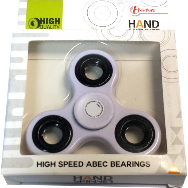 Fidget Spinner / Hand Spinner, High Speed ABEC - Vit - Toi Toys (CE-märkt)