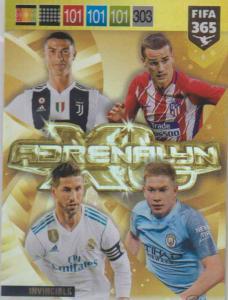 Adrenalyn XL FIFA 365 2019 - 001 Ronaldo,  Ramos,  Griezmann,  De Bruyne Invincible