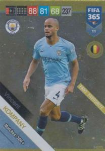 Adrenalyn XL FIFA 365 2019 - 011  Vincent Kompany (Manchester City FC) Fans' Favourite
