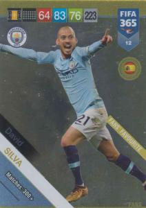 Adrenalyn XL FIFA 365 2019 - 012  David Silva (Manchester City FC) Fans' Favourite