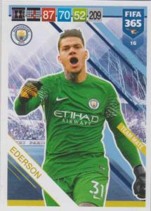 Adrenalyn XL FIFA 365 2019 - 016  Ederson (Manchester City FC) Team Mate