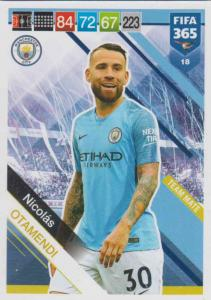 Adrenalyn XL FIFA 365 2019 - 018  Nicolás Otamendi (Manchester City FC) Team Mate