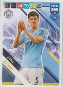Adrenalyn XL FIFA 365 2019 - 019  John Stones (Manchester City FC) Team Mate