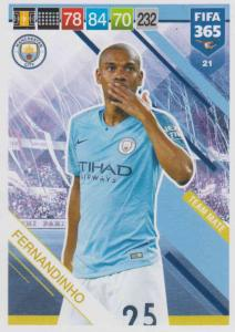 Adrenalyn XL FIFA 365 2019 - 021  Fernandinho (Manchester City FC) Team Mate