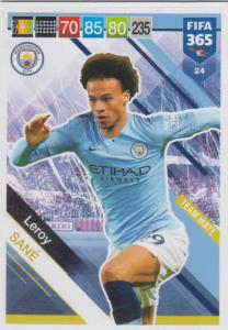 Adrenalyn XL FIFA 365 2019 - 024  Leroy Sané (Manchester City FC) Team Mate