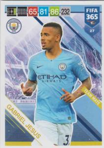 Adrenalyn XL FIFA 365 2019 - 027  Gabriel Jesus (Manchester City FC) Team Mate