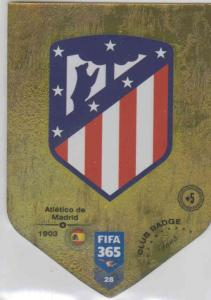 Adrenalyn XL FIFA 365 2019 - 028  Club Badge (Atlético de Madrid) Club Badge