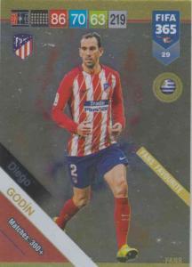 Adrenalyn XL FIFA 365 2019 - 029  Diego Godín (Atlético de Madrid) Fans' Favourite