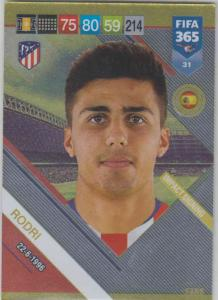 Adrenalyn XL FIFA 365 2019 - 031  Rodri (Atlético de Madrid) Impact Signing