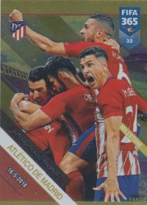 Adrenalyn XL FIFA 365 2019 - 032  Atlético de Madrid 7th International Trophy (Atlético de Madrid) Milestone