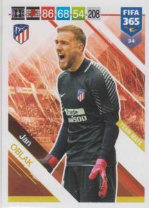 Adrenalyn XL FIFA 365 2019 - 034  Jan Oblak (Atlético de Madrid) Team Mate