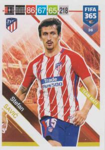 Adrenalyn XL FIFA 365 2019 - 036  Stefan Savić (Atlético de Madrid) Team Mate