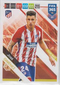 Adrenalyn XL FIFA 365 2019 - 037  José Giménez (Atlético de Madrid) Team Mate