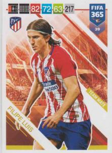 Adrenalyn XL FIFA 365 2019 - 039  Filipe Luis (Atlético de Madrid) Team Mate