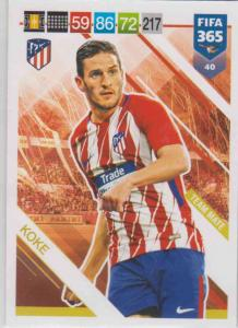 Adrenalyn XL FIFA 365 2019 - 040  Koke (Atlético de Madrid) Team Mate