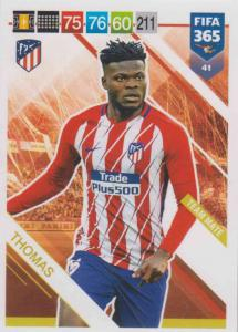 Adrenalyn XL FIFA 365 2019 - 041  Thomas (Atlético de Madrid) Team Mate